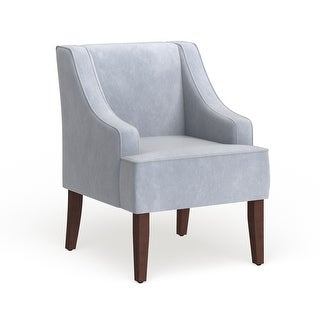 Link to Porch & Den Lyric Dove Grey Velvet Swoop Arm Accent Chair Similar Items in Living Room Chairs
