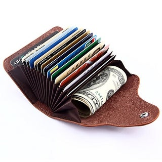 Genuine Leather Unisex Business Card Holder Wallet Bank Credit Card Case Id Holders