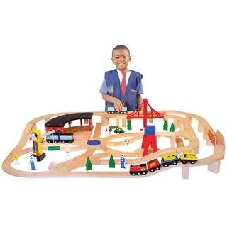 Deluxe Wooden Railway Set