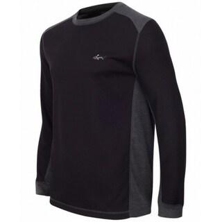 Tasso Elba NEW Black Mens Size LT Thermal Waffel Golf Tee T-Shirt
