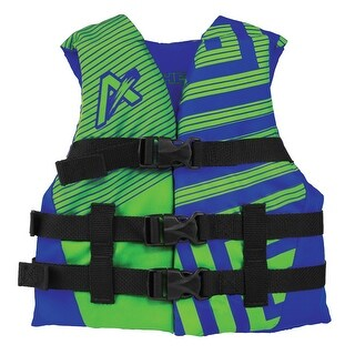 Airhead Trend Boys Closed Side Life Vest-Youth-Blue/Green 10081-03-A-BLLG