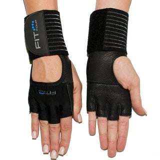 Fit Four The Spartan Grip Leather Fitness Weight Lifting Gloves - Black