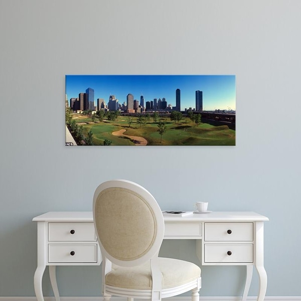 Easy Art Prints Panoramic Image 'Panoramic view of the city skyline from the Metro Golf Illinois Center, IL' Canvas Art