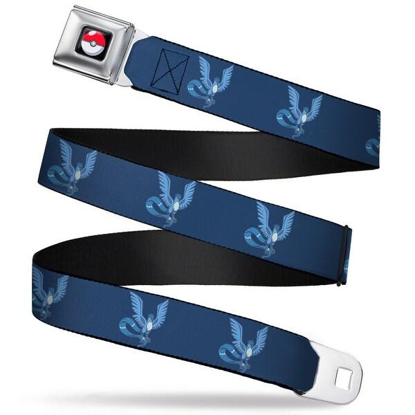 Pok Ball Full Color Black Articuno Flying Pose1 Blue Webbing Seatbelt Belt Seatbelt Belt