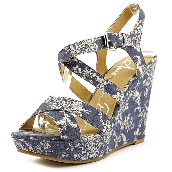 American Rag Rachey Open Toe Canvas Wedge Heel