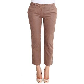Costume National Brown Cropped Corduroys Pants