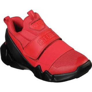 Skechers Boys' D'Lites DLT-A New Orbit Sneaker Red/Black