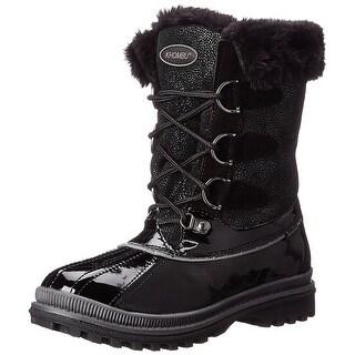 Khombu Free Cold Weather Lace Up Boot Black