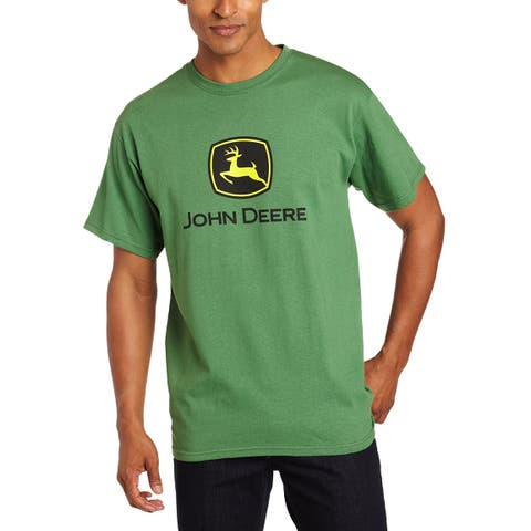 John Deere 13000000GR04 Men's Short-Sleeved Logo T-Shirt, Green, Medium