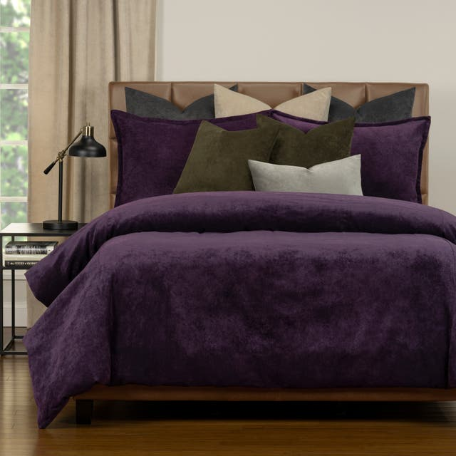 Mixology Padma 10 Piece Duvet Cover and Insert Set - Aubergine - Twin
