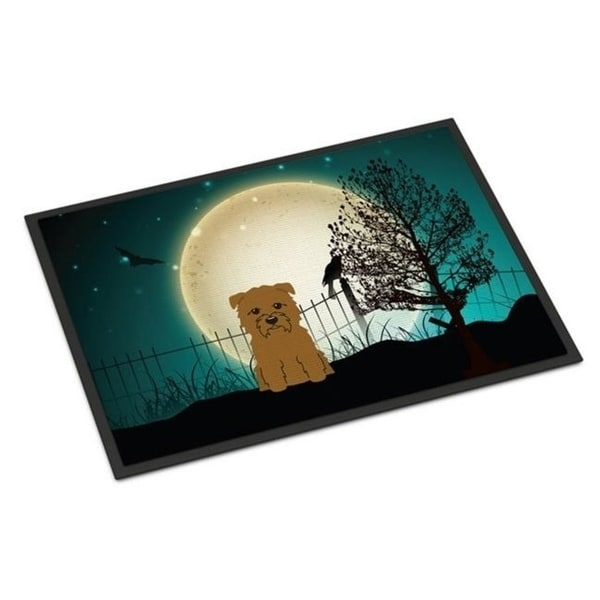 Carolines Treasures BB2250JMAT Halloween Scary Glen of Imal Tan Indoor or Outdoor Mat 24 x 0.25 x 36 in.