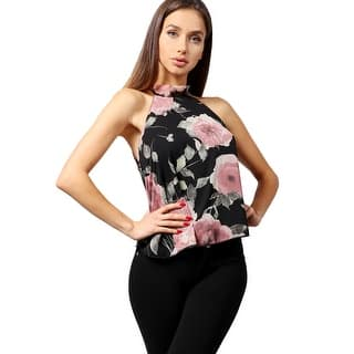 NE PEOPLE Women's Elegant Floral Oriental Chiffon Halter Neck Blouse Top (Option: M)|https://ak1.ostkcdn.com/images/products/is/images/direct/cdb113753eb39a39aa3c33e5a7a4304d3b2c54d5/NE-PEOPLE-Women%27s-Elegant-Floral-Oriental-Chiffon-Halter-Neck-Blouse-Top.jpg?impolicy=medium