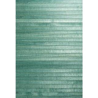 Brewster 63-54728 Kumi Green Grasscloth Wallpaper