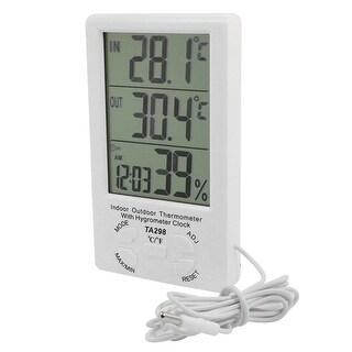 Unique Bargains TA298 Digital LCD Temperature Humidity Meter Hygrometer Clock