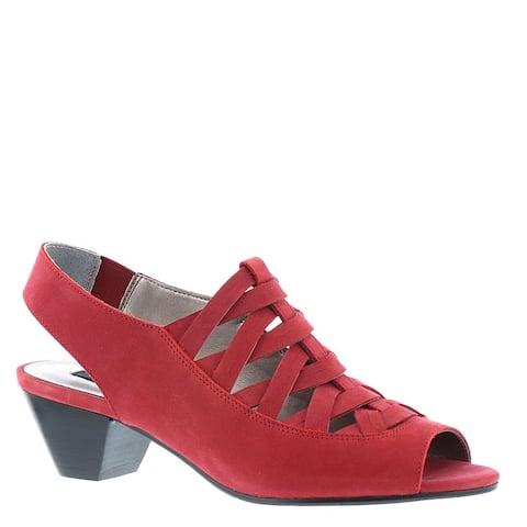 ARRAY Womens Allegra Leather Peep Toe Casual Slingback Sandals