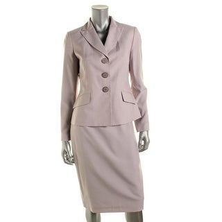 Le Suit Womens The Hamptons Pinstripe 2PC Skirt Suit