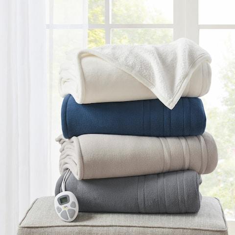Fleece to Sherpa Heated Blanket by Serta