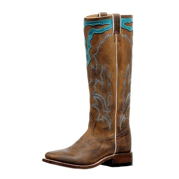 Boulet Western Boots Womens Stockman Stovepipe Hillbilly Golden