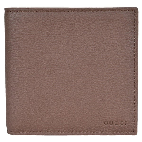 45c3696ef93 Gucci Men  x27 s 150413 Nut Brown Leather Embossed Logo W Coin Bifold