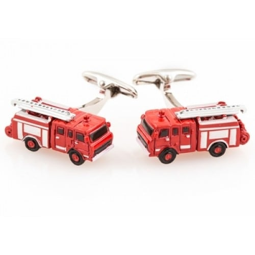 Fire Engine Fireman Fire Truck Firefighter Fire Station Cufflinks