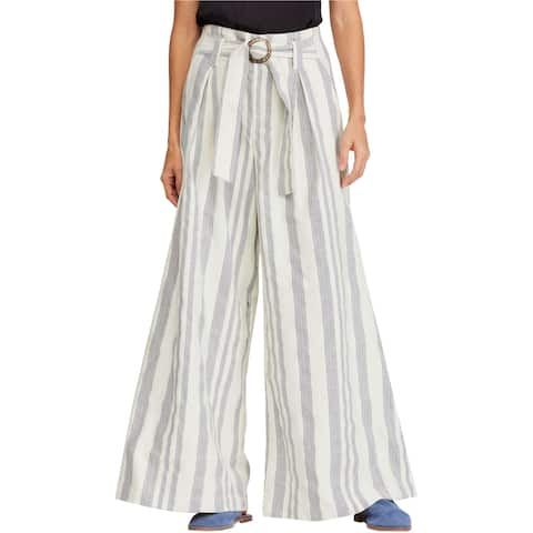 Free People Womens Striped Casual Wide Leg Pants