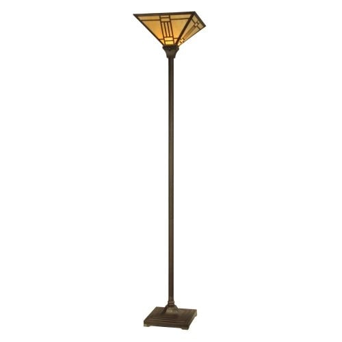 Dale Tiffany TR11062 Noir Mission Torchiere with 1 Light