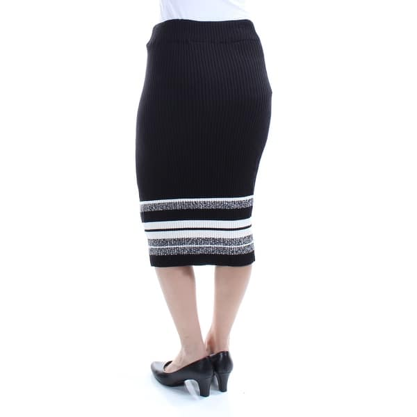 9f2dc30be396 Shop BAR III Womens Black Below The Knee Pencil Skirt Size: 2XS ...
