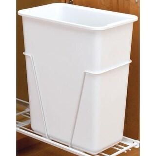 Rev-A-Shelf 6700-61 6700 Series Single Bin Replacement Trash Can - 30 Quart Capa