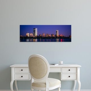 Easy Art Prints Panoramic Images's 'Buildings along a river, Charles River, Boston, Massachusetts, USA' Canvas Art