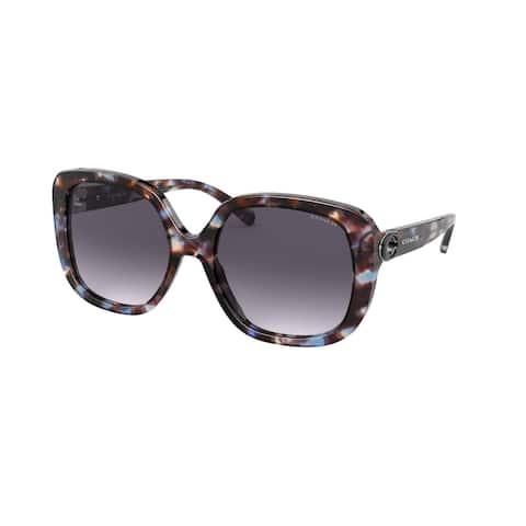Coach HC8292F 56138G 56 Blue Tortoise Woman Square Sunglasses