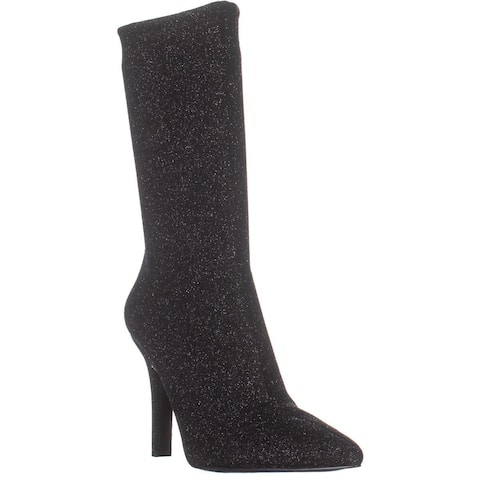 Marc Fisher Unita Pointed Toe Mid-Calf Boots, Black