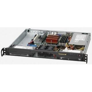 Supermicro Cse-512F-350B Sc512 F-350B - Rack-Mountable - 1U - Atx - Power Supply 350 Watt - Black