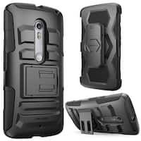 i-Blason-Motorola Verizon Droid Maxx 2 (Moto X Play) Case -Prime Series Case and Holster - Black
