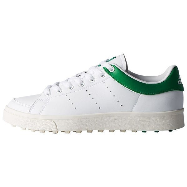 Adidas Junior Adicross Classic Cloud White/Cloud White/Green Golf Shoes F33759. Opens flyout.
