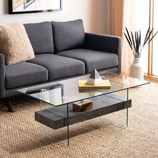 "Safavieh Kayley Modern Glass Coffee Table - 43.3"" x 23.6"" x 16.5"""