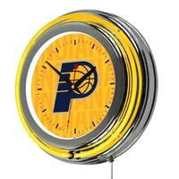 Trademark  NBA Chrome Double Rung Neon Clock, City - Indiana