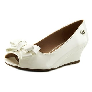 Jessica Simpson Gayla Youth Open Toe Synthetic White Wedge Heel