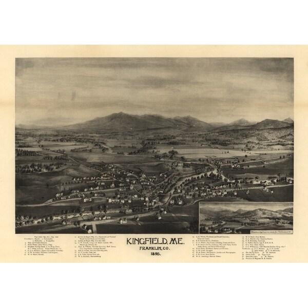 KingfieldMaine Sizes Panoramic Art Available9 Print X 12 Mapart Multiple IYfvb7m6gy