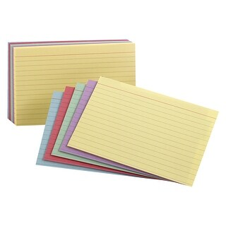 Esselte Pendaflex Oxford Rainbow Ruled Index Card, 3 X 5 in, Multiple Color, Pack of 100