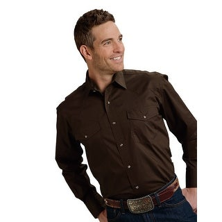 Roper Western Shirt Mens Long Sleeve Snap Brown 03-001-0765-1069 BR