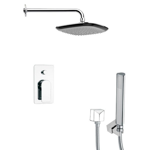 Nameeks SFH6113 Remer 2.5 GPM Square Single Function Rain Shower Head with Hand Shower - Chrome