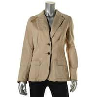 Lauren Ralph Lauren Womens Denim Jacket Denim Sheep Leather Trim