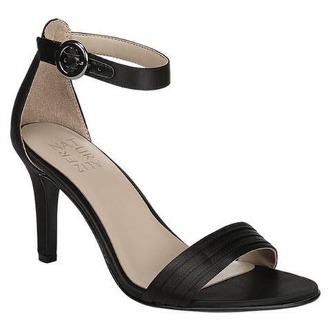 10d66e64b36e Naturalizer Women s Kinsley Ankle Strap Sandal Black Satin Fabric