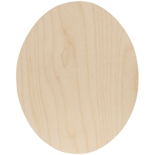 "Simple Baltic Birch Plywood Shape-Oval - 8""X10""X.13"""