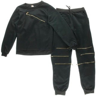 Ziranmei Womens 2PC Fleece Track & Sweat Suits - M