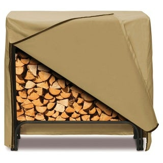 "Two Dogs Designs 96"" Log Rack Cover (Black or Khaki), Khaki"