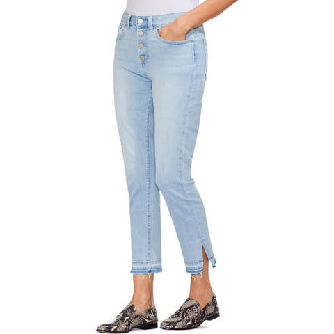 Vince Camuto Womens Skinny Jeans Denim Frayed