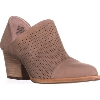 STEVEN Steve Madden Skelos Perforated Ankle Booties, Taupe