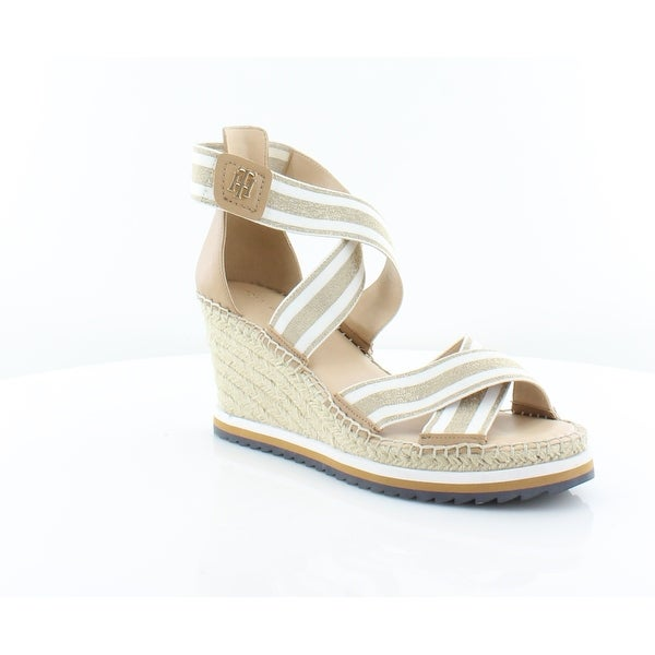 3774ad5871db Shop Tommy Hilfiger Yesia Women s Sandals Gold Multi - Free Shipping ...