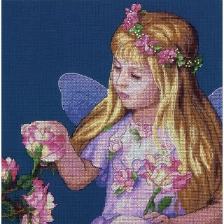 """Rose Fairy Counted Cross Stitch Kit-11""""X11"""" 14 Count"""